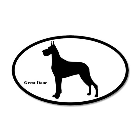 Great Dane Silhouette Sticker