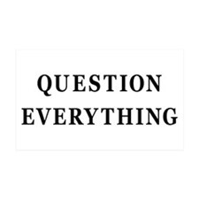 Question Everything 35x21 Wall Peel