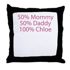 100% Chloe Throw Pillow