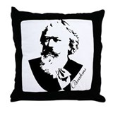Brahms Silhouette Music Composer Pillow