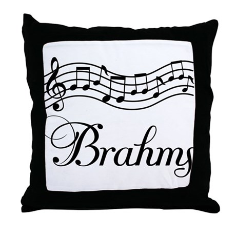 Brahms Music Gift Throw Pillow