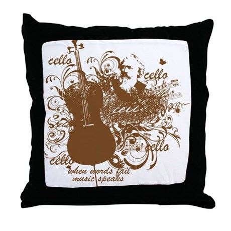 Musical Quote Throw Pillow