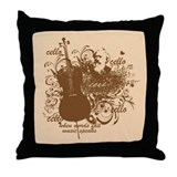 Words Fail Music Speaks Throw Pillow