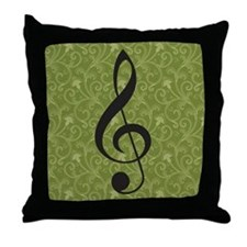 Music Lover Treble Clef Throw Pillow Gift