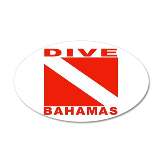 Dive Bahamas 35x21 Oval Wall Peel