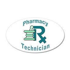 pharmacy technician 35x21 Oval Wall Peel