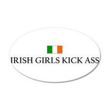 Irish Girls 35x21 Oval Wall Peel