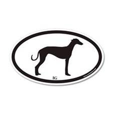 Italian Greyhound IG Euro 35x21 Oval Wall Peel