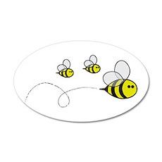 Bees!! 20x12 Oval Wall Peel