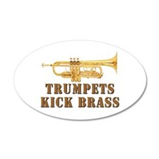 Trumpets Kick Brass 35x21 Oval Wall Peel