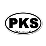 Pine Knoll Shores, NC Euro Oval Car Sticker