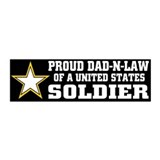 Proud Dad in law Soldier/BLK 20x6 Wall Peel