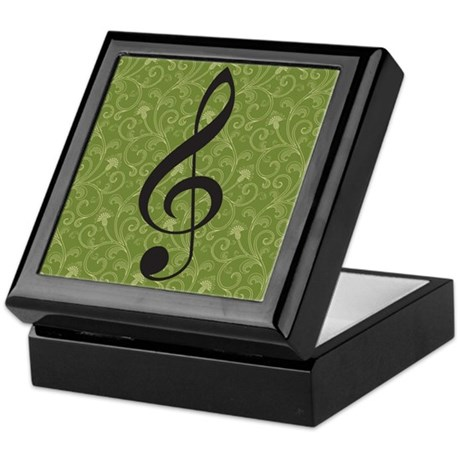 Musician Gift Treble Clef Keepsake Box