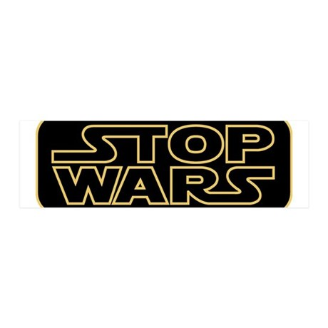 Stop Wars 20x6 Wall Peel
