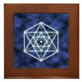 Celestial Blue Star Framed Tile