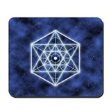 Celestial Blue Star Mousepad