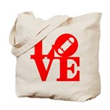 Love skate deck red Tote Bag