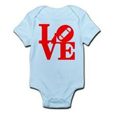 Love skate deck red Infant Bodysuit