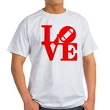 Love skate deck red T-Shirt