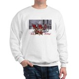 English Bulldog Reindeer Christmas Sweater