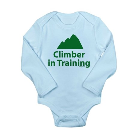 Climber in Training Long Sleeve Infant Bodysuit
