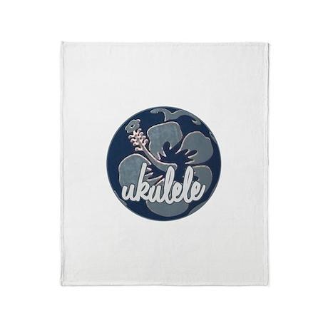 Hawaiian Uke - Throw Blanket