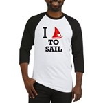 I Love to Sail Baseball Jersey