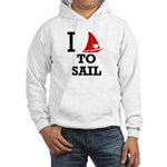 I Love to Sail Hooded Sweatshirt