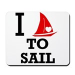 I Love to Sail Mousepad