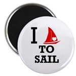 I Love to Sail Magnet