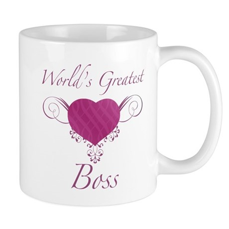 World's Greatest Boss (Heart) Mug