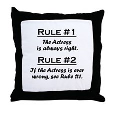Actress Throw Pillow