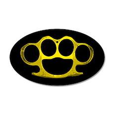 Brass Knuckles 35x21 Oval Wall Peel