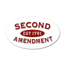 Second Amendment 1791 35x21 Oval Wall Peel