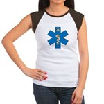 OES EMS Blue Star of Life Women's Cap Sleeve T-Sh