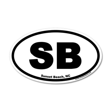 Sunset Beach SB Euro 35x21 Oval Wall Peel