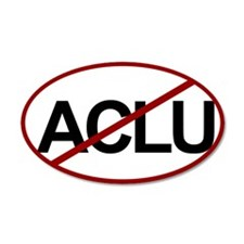 No ACLU 20x12 Oval Wall Peel
