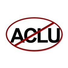 No ACLU 35x21 Oval Wall Peel