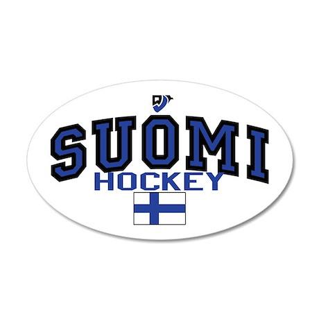 FI Finland Suomi Hockey Leijonat 35x21 Oval Wall P