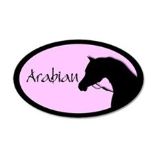 Arabian horse in halter pink/black Wall Decal