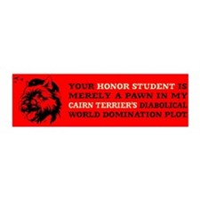Cairn Terrier -Honor Student 36x11 Wall Peel