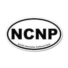 North Cascades National Park 20x12 Oval Wall Peel