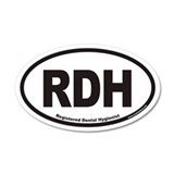 Registered Dental Hygienist RDH Euro Decal Wall Sticker