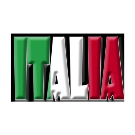 Word Art Italia 35x21 Wall Peel