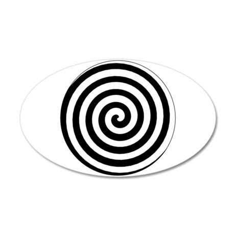 Hypnotic Spiral 35x21 Oval Wall Peel