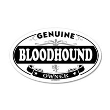 BLOODHOUND 20x12 Oval Wall Peel