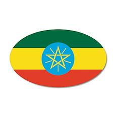 Ethiopian Flag 20x12 Oval Wall Peel