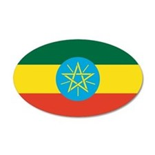 Ethiopian Flag 35x21 Oval Wall Peel