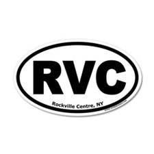 "Rockville Centre, NY ""RVC"" 20x12 Oval Wall Peel"