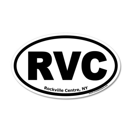 "Rockville Centre, NY ""RVC"" 35x21 Oval Wall Peel"